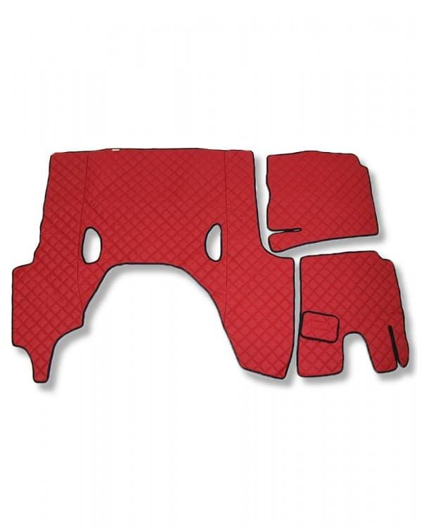 Коврик стеганный SCANIA G6 АКПП Красный