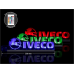 Светодиодная табличка IVECO 590мм логотип