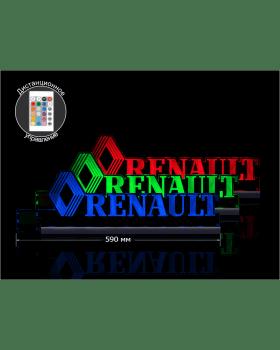 Светодиодная табличка RENAULT 590мм