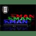 Светодиодная табличка MAN 760мм логотип