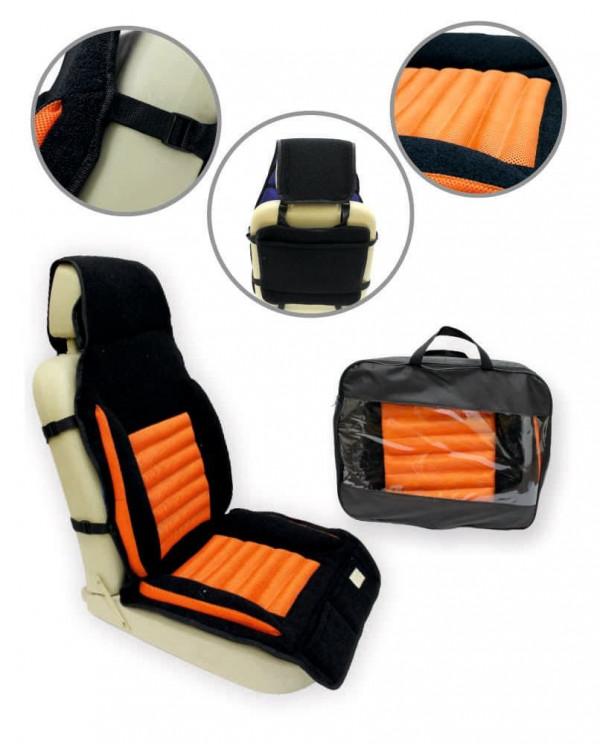 Накидка массажная с гречишной лузгой модель №13 оранжевый