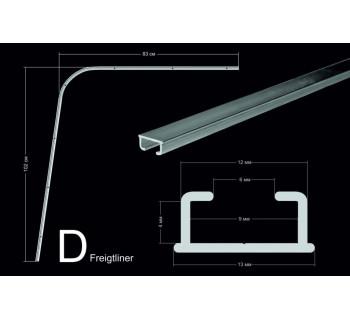 Комплект направляющих тип D (102*103см, потолочного крепления)