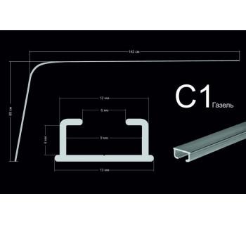 Направляющие тип С1 (69*142см, потолочного/стенового крепления)