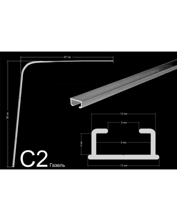 Комплект направляющих тип С2 (90*81см, потолочного/стенового крепления)