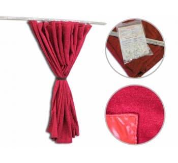 Комплект направляющих со шторами (перегородка ГАЗель)
