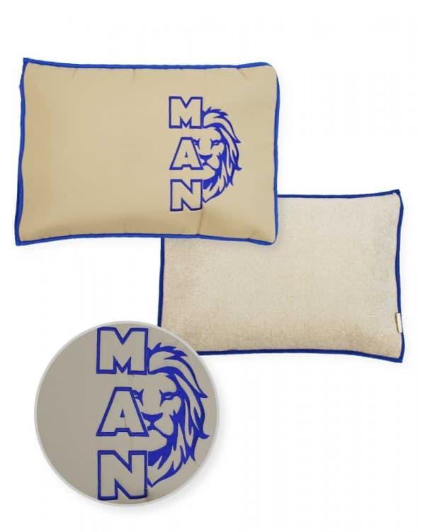 Подушка-наволочка на MAN синяя