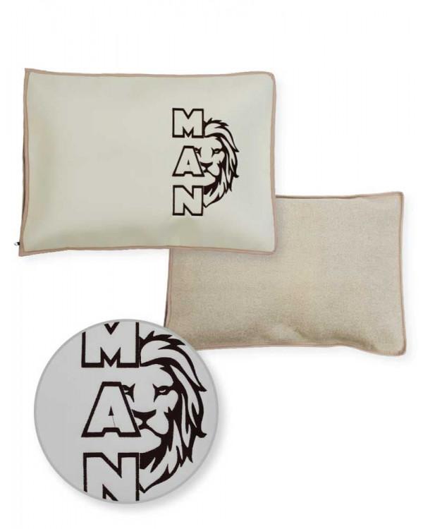 Подушка-наволочка на MAN Экокожа ткань