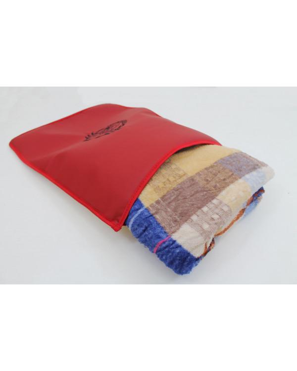 Подушка-наволочка на Mercedes Черно-красный экокожа ткань