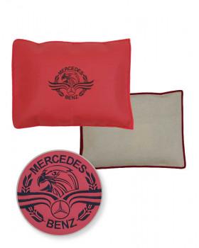 Подушка-наволочка на Mercedes Черно-красный