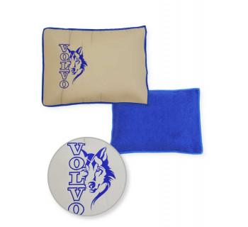 Подушка-наволочка на VOLVO Синий