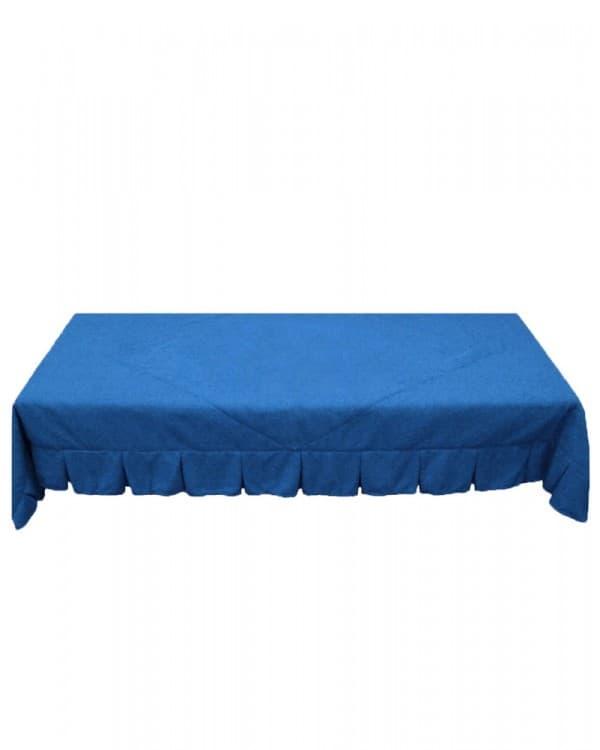 Синее покрывало стеганое для спального отсека грузовых автомобилей