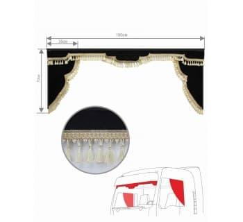 Комплект ламбрекен и уголки Астра