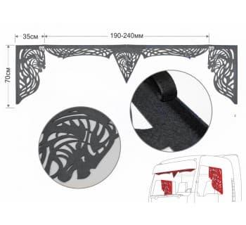 Комплект универсальный резной ламбрекен с уголками (Дракон)