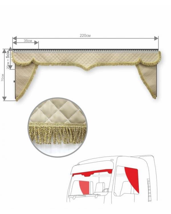 Комплект ламбрекен с уголками эко кожа