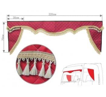 Комплект ламбрекен с уголками (широкие)