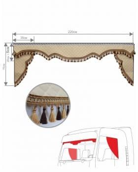 Комплект ламбрекен с уголками из Экокожи
