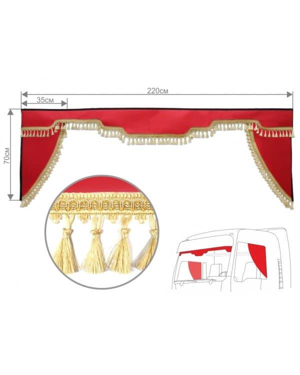 Комплект ламбрекен лобового окна c уголками (экокожа)