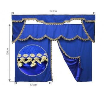 Комплект штор в спальник с бандо, ламбрикен и уголки