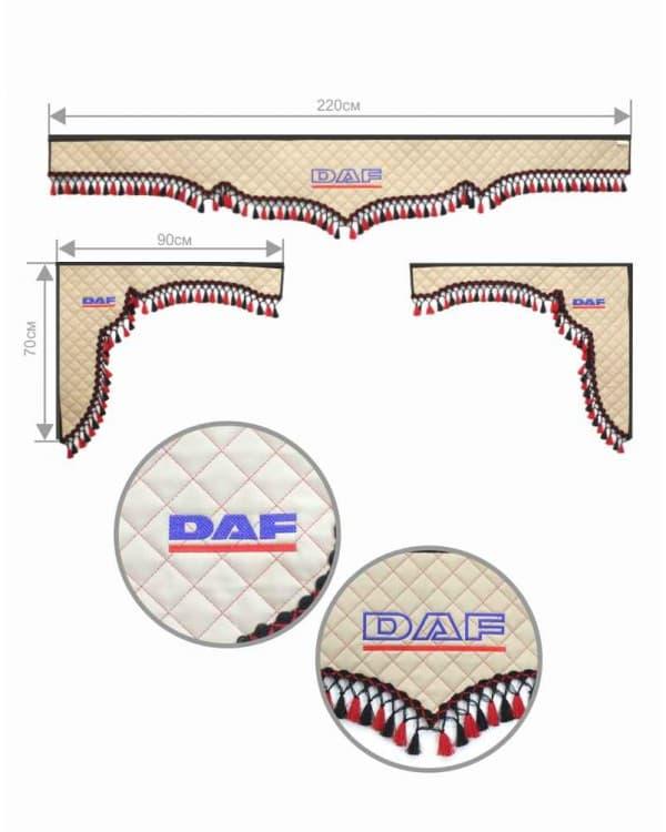 Комплект 3Х на DAF Экокожа/Бархат