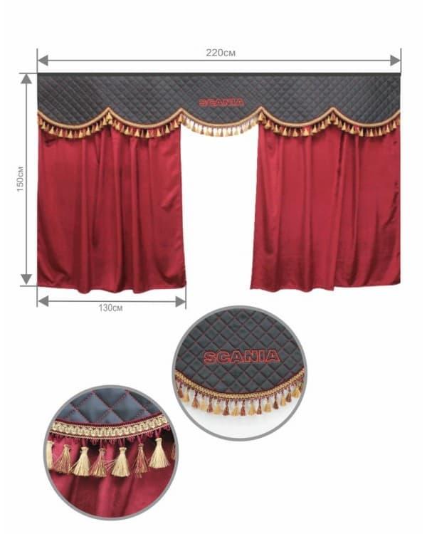 Комплект 3Х на SCANIA Бархат/Экокожа с вышивкой