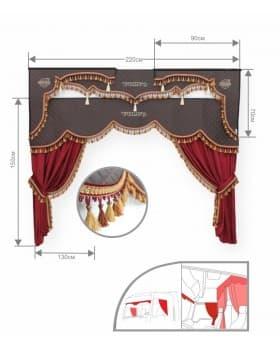 Комплект штор в кабину VOLVO (удлиненный угол)