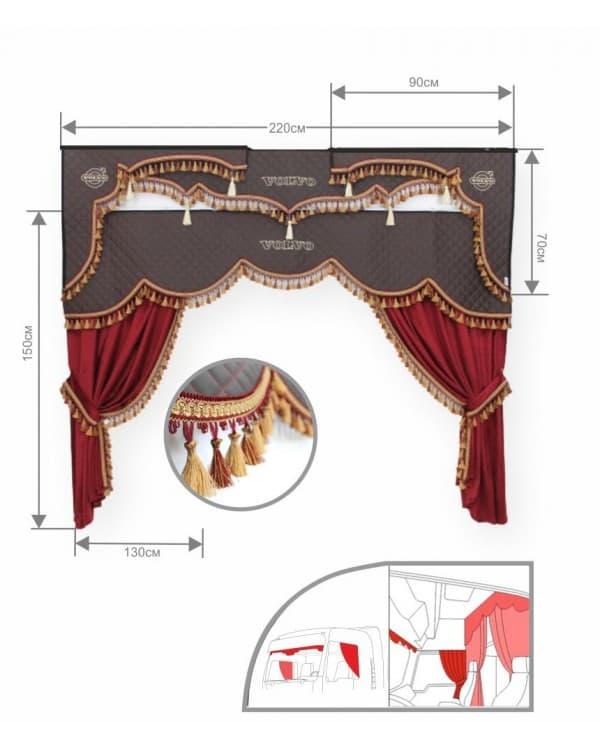 Комплект штор в кабину 3Х Европа VOLVO