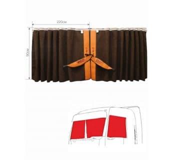Шторы лобового окна сборка c вышивкой DAF