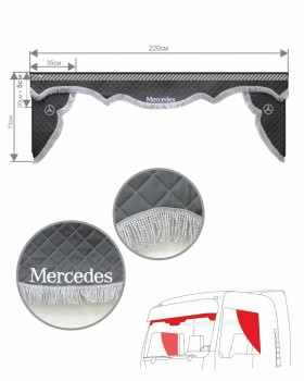 Ламбрекен и уголки Mercedes из экокожи