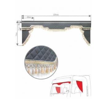 Комплект ламбрекен с уголками эко-кожа
