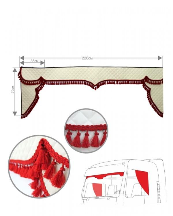 Комплект ламбрекен лобового окна c уголками (широкие)