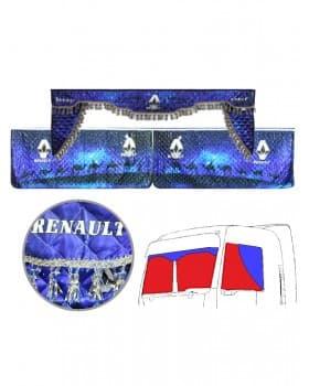 Ночные шторы ламбрекен и уголки с фотопечатью RENAULT «Караван»