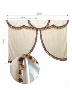 Комплект штор в спальный отсек атсра