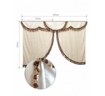 Комплект штор в спальный отсек Астра