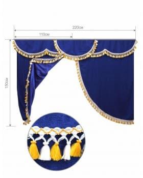Комплект штор в спальный отсек из астры