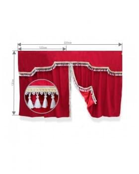 Комплект штор спального места с ламбрекеном (низкая кабина)