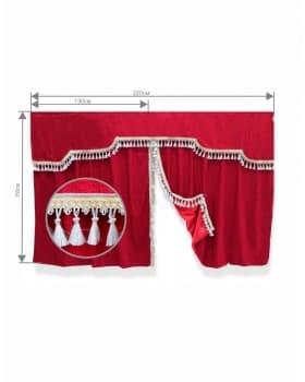 Комплект штор спального места с ламбрекеном