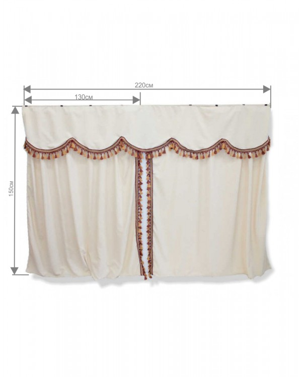Комплект штор спального места с ламбрекеном (Европа)