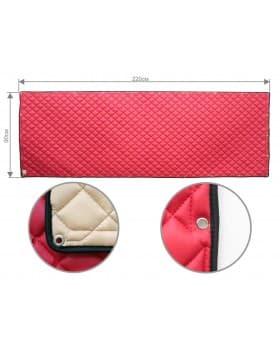 Задняя стенка спальника из ЭкоКожи (красный)