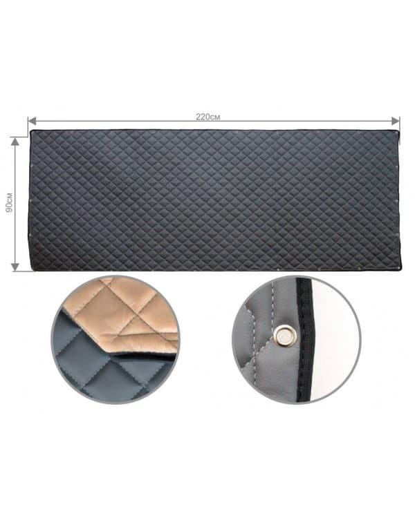 Задняя стенка спальника из ЭкоКожи (серый)
