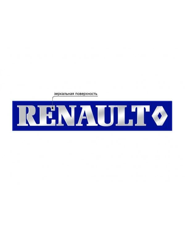 Наклейка из пластика для грузовика RENAULT Синий зеркало