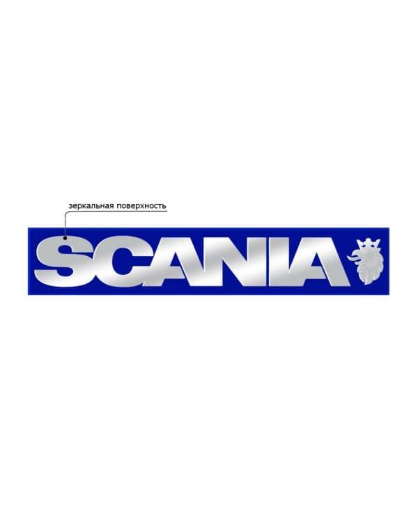 Наклейка из пластика для грузовика SCANIA синий зеркало