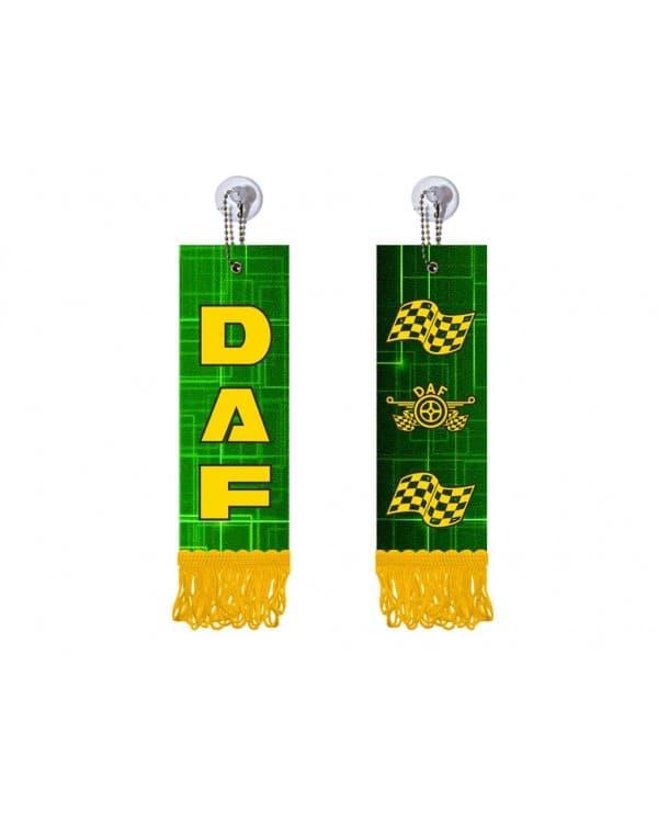 Вымпел прямоугольный DAF (5х15 см, желтая бахрома)