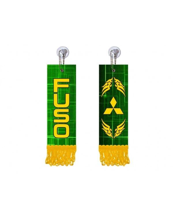 Вымпел прямоугольный FUSO (5х15 см, желтая бахрома)