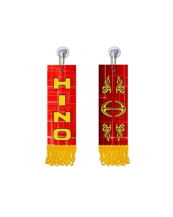 Вымпел прямоугольный HINO (5х15 см, желтая бахрома)