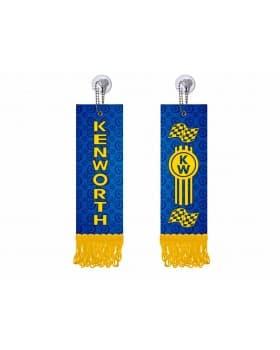 Вымпел прямоугольный KENWORTH (5х15 см) синий желтый