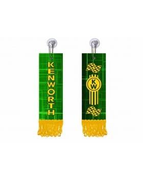 Вымпел прямоугольный KENWORTH (5х15 см) зеленый желтый