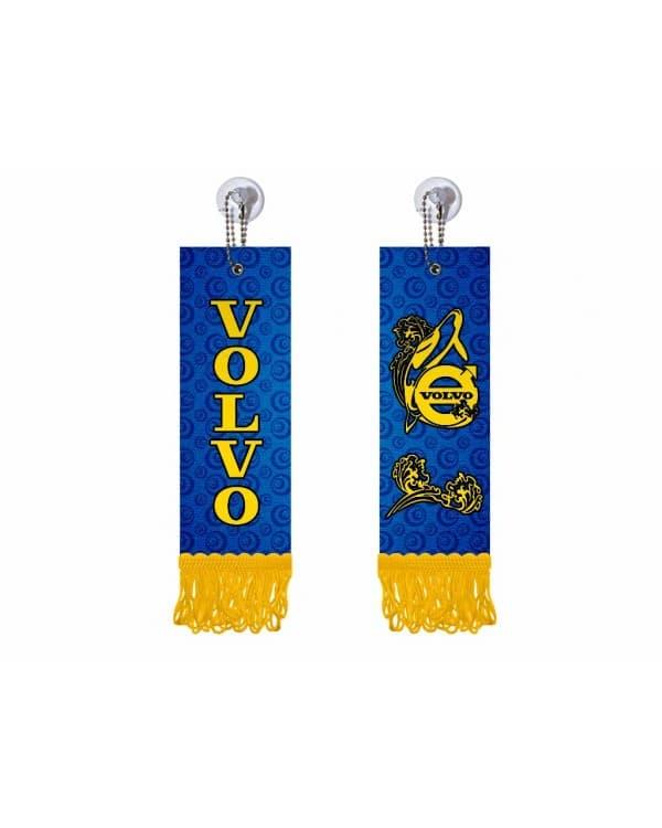 Вымпел прямоугольный VOLVO (5х15 см, желтая бахрома)