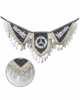 Вымпел крылья Mercedes серый экокожа
