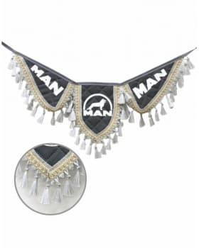 Вымпел крылья MAN серый экокожа