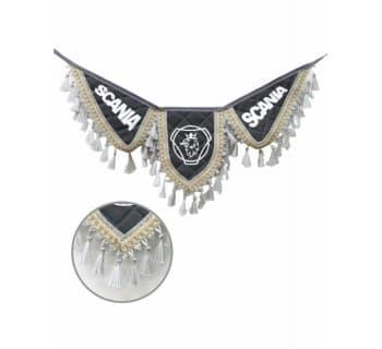 Вымпел крылья SCANIA серый экокожа